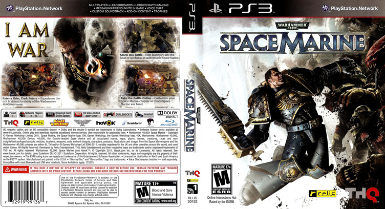 Warhammer 40000: Space Marine PS3 coverfullM (BLUS30432)