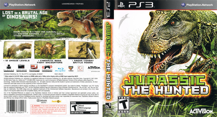 Jurassic: The Hunted PS3 coverfullM (BLUS30435)