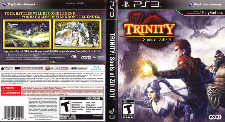 Trinity: Souls of Zill O'll PS3 coverfullM (BLUS30503)
