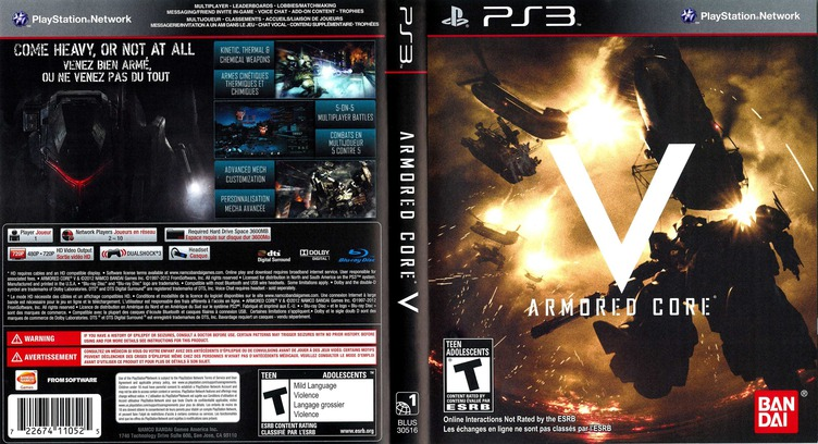Armored Core V PS3 coverfullM (BLUS30516)