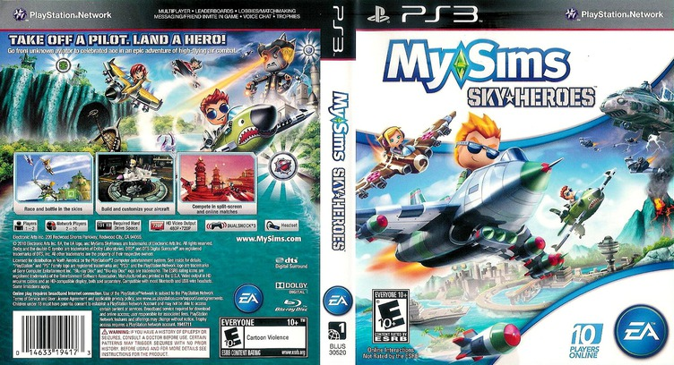 MySims SkyHeroes PS3 coverfullM (BLUS30520)