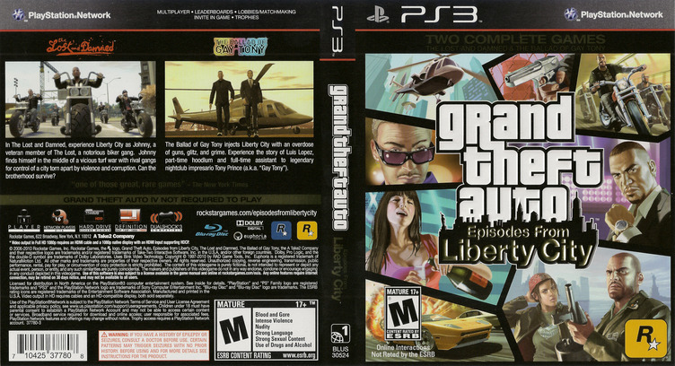 Grand Theft Auto: Episodes from Liberty City PS3 coverfullM (BLUS30524)