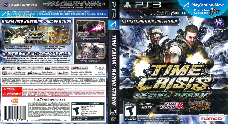 Time Crisis: Razing Storm PS3 coverfullM (BLUS30528)