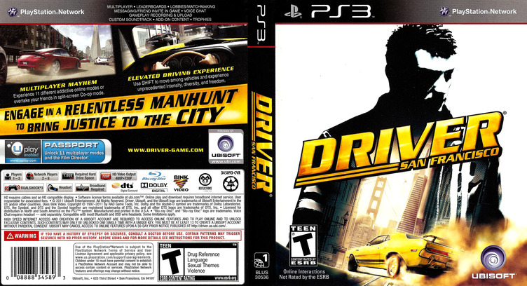 Driver: San Francisco PS3 coverfullM (BLUS30536)