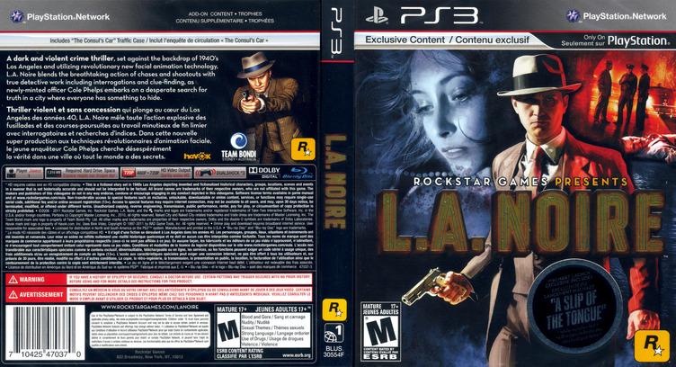 L.A. Noire PS3 coverfullM (BLUS30554)