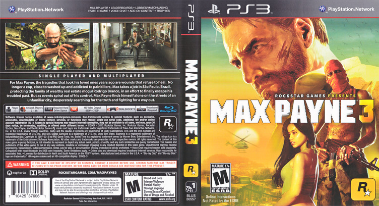 Max Payne 3 PS3 coverfullM (BLUS30557)