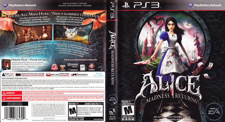 Alice: Madness Returns PS3 coverfullM (BLUS30607)