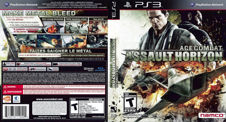 Ace Combat: Assault Horizon PS3 coverfullM (BLUS30613)