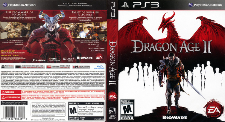Dragon Age II PS3 coverfullM (BLUS30645)