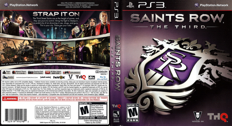 Saints Row: The Third PS3 coverfullM (BLUS30666)