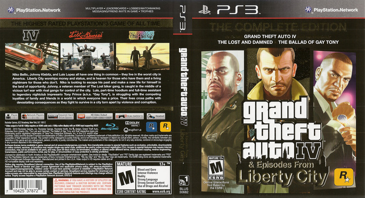 Grand Theft Auto IV: The Complete Edition PS3 coverfullM (BLUS30682)