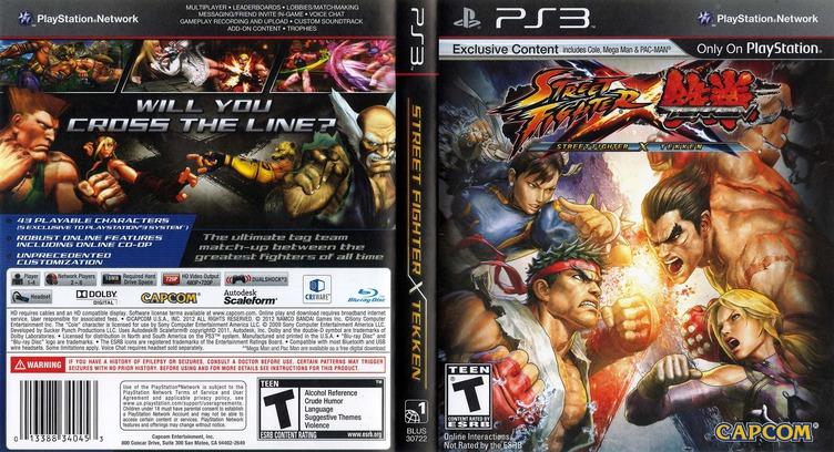 Street Fighter X Tekken PS3 coverfullM (BLUS30722)