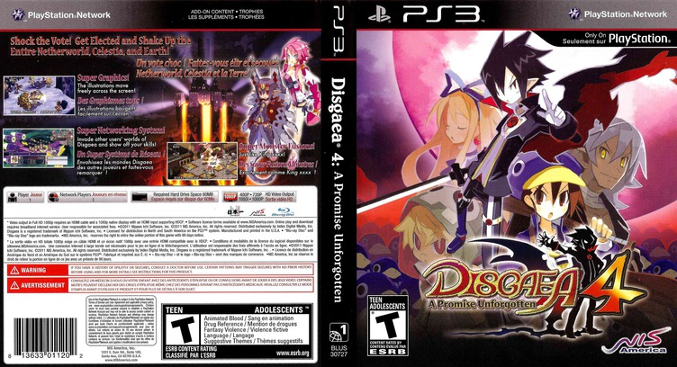 Disgaea 4: A Promise Unforgotten PS3 coverfullM (BLUS30727)