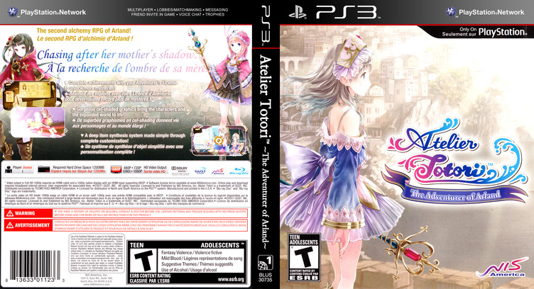 Atelier Totori: The Adventurer of Arland PS3 coverfullM (BLUS30735)