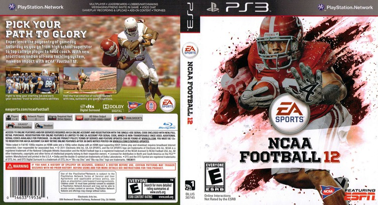 NCAA Football 12 PS3 coverfullM (BLUS30745)
