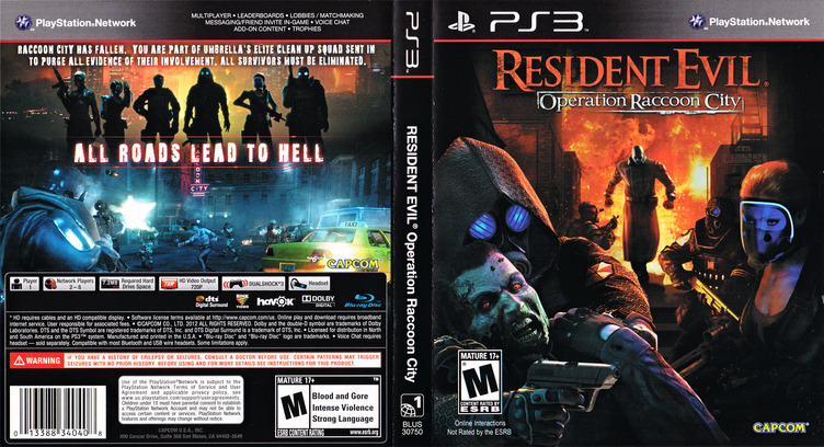Resident Evil: Operation Raccoon City PS3 coverfullM (BLUS30750)