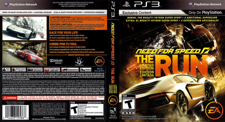 Need for Speed: The Run PS3 coverfullM (BLUS30757)