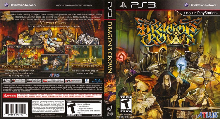 Dragon's Crown PS3 coverfullM (BLUS30767)