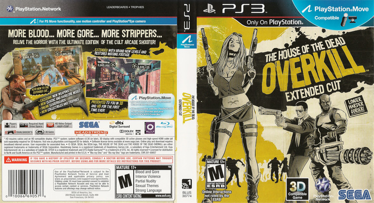 The House of the Dead: Overkill Extended Cut PS3 coverfullM (BLUS30774)