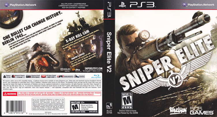 Sniper Elite V2 PS3 coverfullM (BLUS30798)