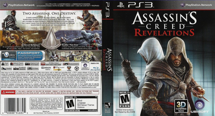 Assassin's Creed: Revelations PS3 coverfullM (BLUS30808)