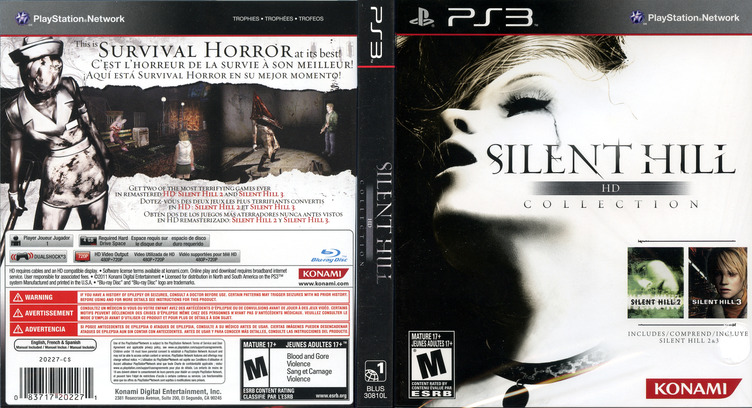 Silent Hill: HD Collection PS3 coverfullM (BLUS30810)