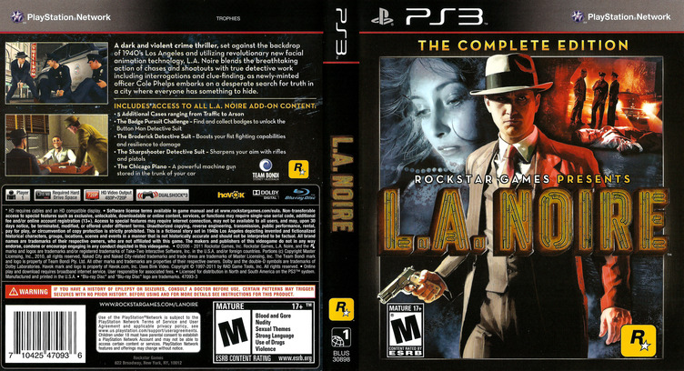 L.A. Noire - The Complete Edition PS3 coverfullM (BLUS30898)