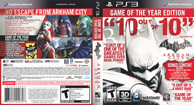 Batman: Arkham City (Game of the Year Edition) PS3 coverfullM (BLUS30978)