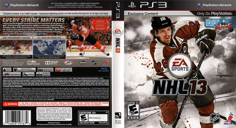 NHL 13 PS3 coverfullM (BLUS31003)