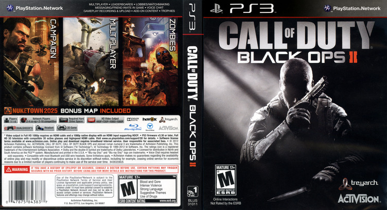 Call of Duty: Black Ops II PS3 coverfullM (BLUS31011)
