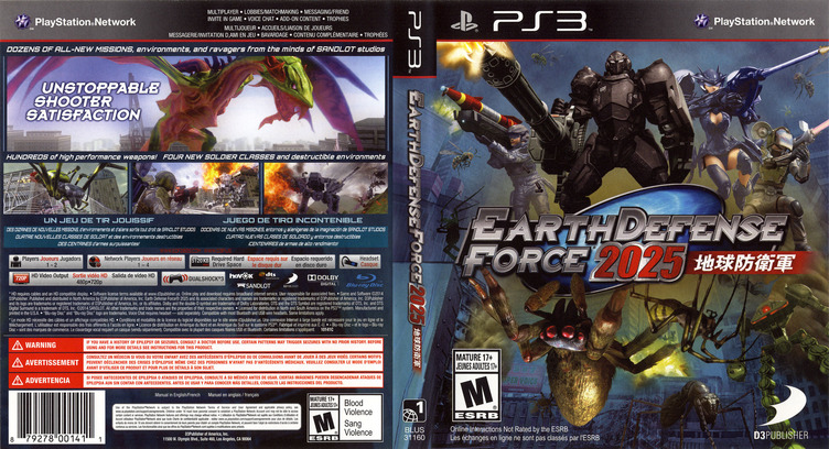 Earth Defense Force 2025 PS3 coverfullM (BLUS31160)