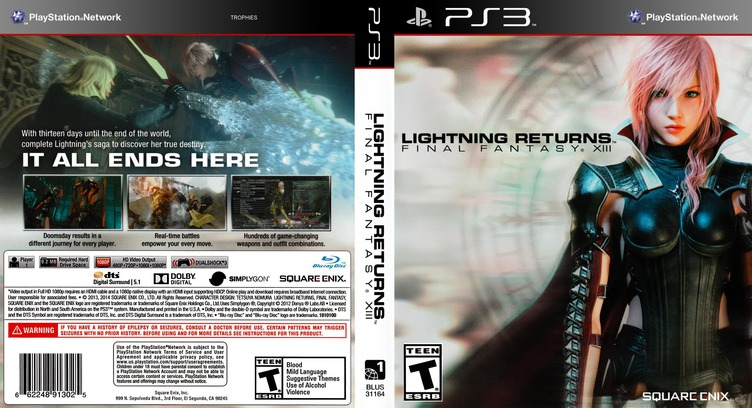 Lightning Returns: Final Fantasy XIII PS3 coverfullM (BLUS31164)