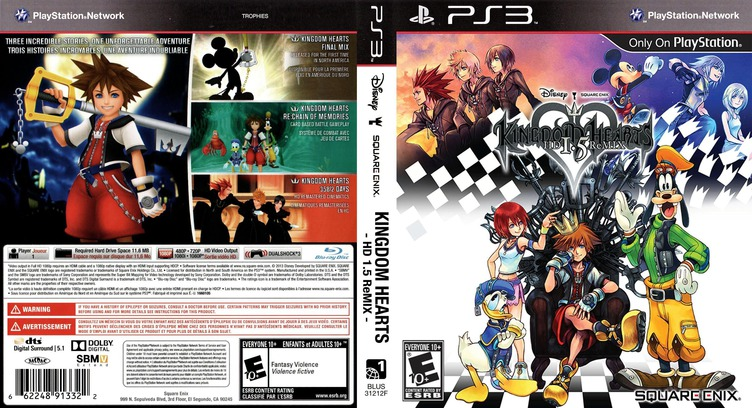Kingdom Hearts HD 1.5 ReMIX PS3 coverfullM (BLUS31212)