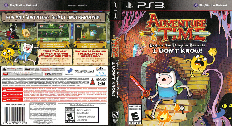 Adventure Time: Explore the Dungeon Because I DON'T KNOW! PS3 coverfullM (BLUS31214)