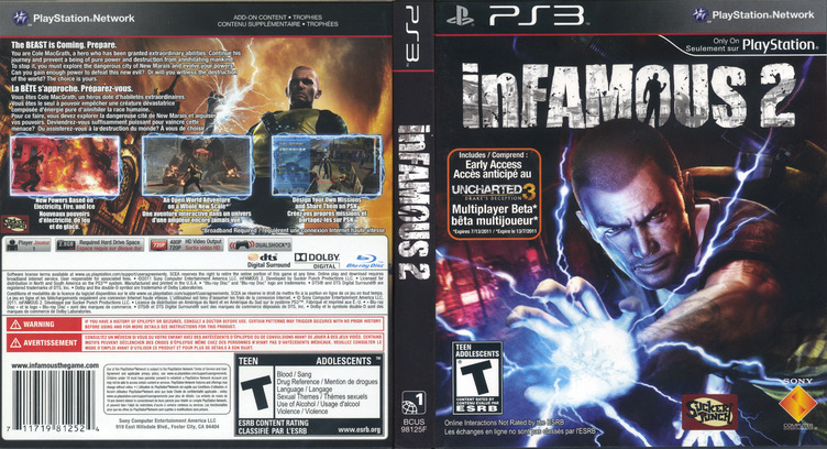 inFamous 2 PS3 coverfullM2 (BCUS98125)