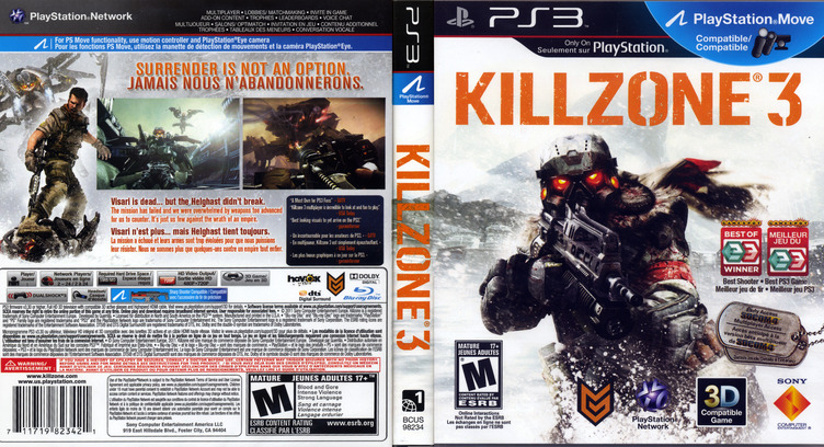 Killzone 3 PS3 coverfullM2 (BCUS98234)