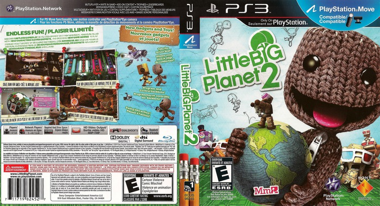 LittleBigPlanet 2 PS3 coverfullM2 (BCUS98245)