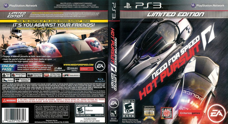 Need for Speed: Hot Pursuit PS3 coverfullM2 (BLUS30566)