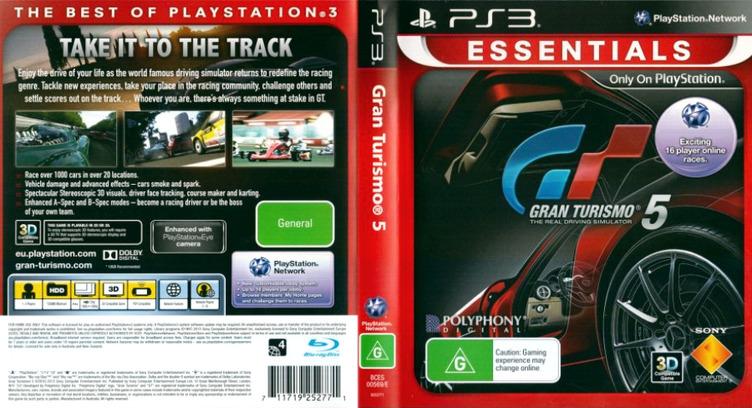 Gran Turismo 5 PS3 coverfullMB (BCES00569)