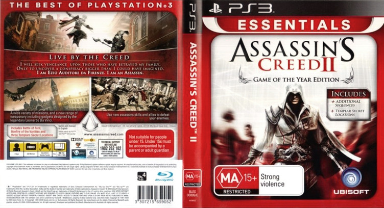 Assassin's Creed II PS3 coverfullMB (BLES00669)