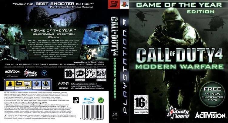 Call of Duty 4: Modern Warfare PS3 coverfullMB (BLES00148)