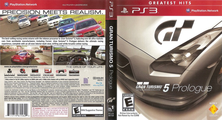 Gran Turismo 5: Prologue PS3 coverfullMB (BCUS98158)