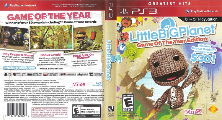 LittleBigPlanet (Game of the Year Edition) Array coverfullMB (BCUS98208)