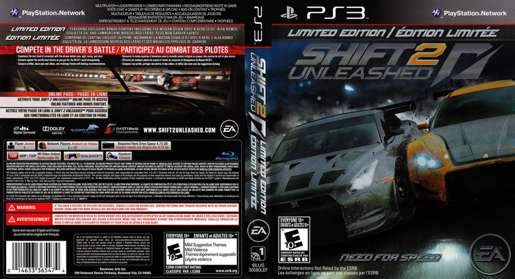 Shift 2: Unleashed PS3 coverfullMB (BLUS30580)