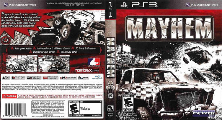 Mayhem PS3 coverfullMB (BLUS30694)