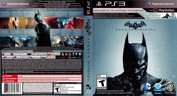 Batman: Arkham Origins PS3 coverfullMB (BLUS31147)