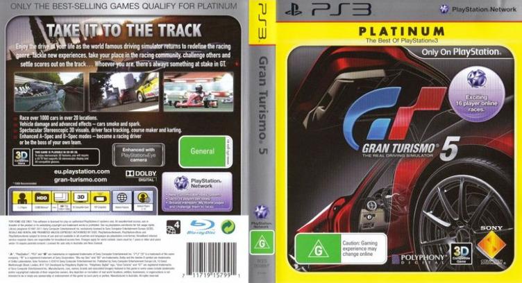 Gran Turismo 5 PS3 coverfullMB2 (BCES00569)