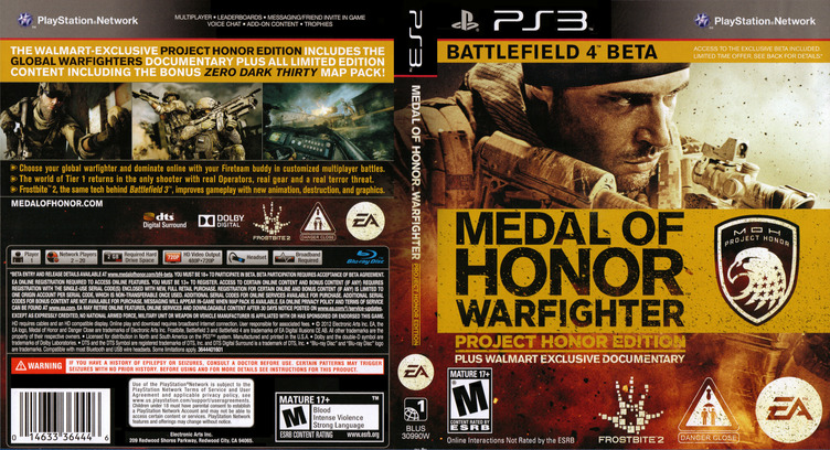 Medal of Honor: Warfighter PS3 coverfullMB2 (BLUS30990)