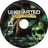 Uncharted: Drake's Fortune PS3 disc (BCES00065)