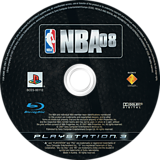 NBA 08 PS3 disc (BCES00112)